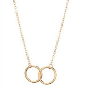 GOLD OR SILVER DAINTY KARMA DOUBLE CIRCLE NECKLACE